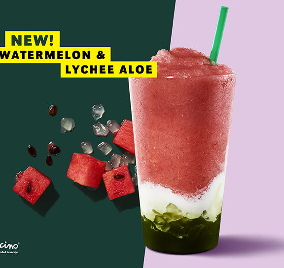 Starbucks' New Watermelon & Lychee Aloe Is A Pastel Pink Instagram Worthy Pic