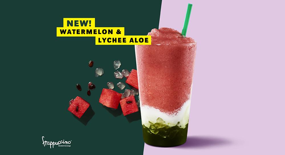 Starbucks' New Watermelon & Lychee Aloe Is A Pastel Pink Instagram Worthy Pic